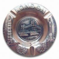 Wholesale Promotional London Ashtray, Made of Alloy, Available in Various Sizes and Colors from china suppliers