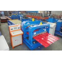 Wholesale 4kw Cr12 Roof Glazed Tile Roll Forming Machine Sheet Metal Forming Equipment from china suppliers