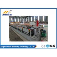China White And Blue Rain Gutter Roll Forming Machine 14-16 Rollers 4kW Main Motor Power on sale