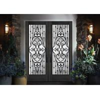China Galvanized Steel Remarkable Inlaid Door Glass For Building Hand Forged on sale