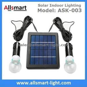 4000mAH Li-ion Battery 2pcs 3W 20LED Bulbs Solar Home Kits Indoor Lighting DC Solar Garage Barn System 3W Solar Panel
