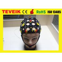 Buy cheap Seperated 20 leads EEG Hat For EEG Machine , Silver Chloride Electrode from wholesalers