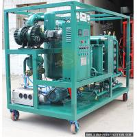 Wholesale Double Stage Mobile Type Vacuum Oil Filter Machine With Variable Flow Capacity from china suppliers