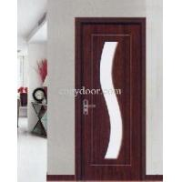 China Glass Single Panel New Design Flush PVC Interior Wooden Door (GY-KG36) on sale