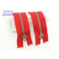 Wholesale 6 Inch Antique Brass Closed End Zip Red Tape Semi Auto - Lock Slider For Dress / Shoes from china suppliers