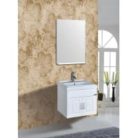 PVC Vanity Cabinets Modern Square Bathroom Cabinet Sink Mirror 60cm / Basin