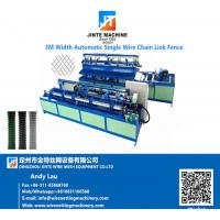 China Fully Automatic Single Wire Mesh Making Chain Link Fence Machine For Sale on sale