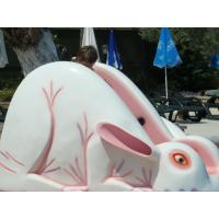 Wholesale White / Pink Children Rabbit Home Water Slides For Aqua Park from china suppliers