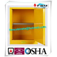 Wholesale Yellow Industrial Safety Cabinets , Flame Proof Storage Cabinets With Double Lock from china suppliers