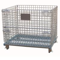 Wholesale Heavy Duty Galvanized Collapsible Stackable Wire Mesh Storage Cages from china suppliers