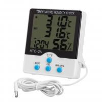 Indoor / Outdoor Digital Hygro Thermometer With Clock And External Sensor