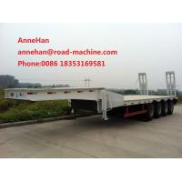 Wholesale 3AXLES Loading Construction Machines Hydraulic Flatbed Semi Trailer 70 Tons 17m from china suppliers