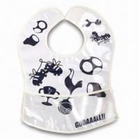 Wholesale Lovely Baby Bib, ODM Orders are Welcome, Made of Soft Plastic (PE) from china suppliers