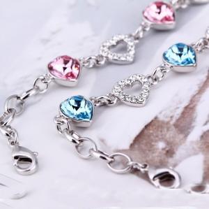 China Ref No.: 205011 Loving thoughts Elements Swarovski bracelet watch costume jewellry wholesale birthstone jewelry for mom on sale