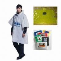 Wholesale PE Waterproof Poncho, Various Sizes are Available from china suppliers