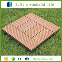 Wholesale Wpc decking 30x30 interlocking outdoor composite plastic wood tile flooring from china suppliers