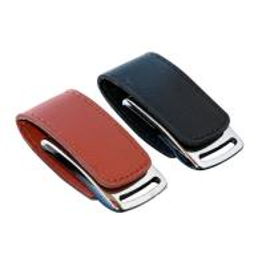 China Premium Black Leather  Pen Drive USB Flash Drive Can Customized Logo on sale