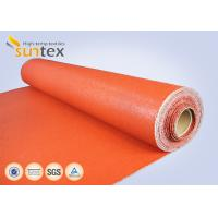 Wholesale Texturized Heavy Duty Insulation Silicone Coated Fiberglass Fabric Roll Fireproof from china suppliers