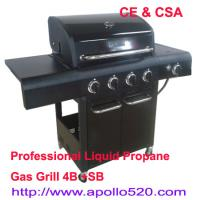 Quality 4 Burner BBQ with side burner for sale