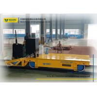 Quality Warehouse Transferring Flat Rail Guided Vehicle , Cargo Heavy Duty Cart Trolley for sale