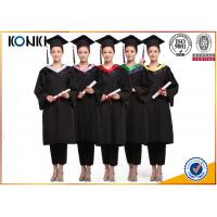 wholesale graduation gowns and mortar board black gowns from China clothing factory