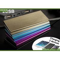 Wholesale 6000mAh Ultra Slim Power Bank Dual USB Output With LED Flash Light from china suppliers