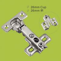 China one way hinge furniture hardware 26mm cup hinges with Nickel finish on sale