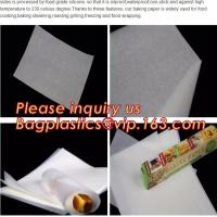 Custom Logo Printed Square Wood Pulp Unbleached Parchment Paper,Silicone coated