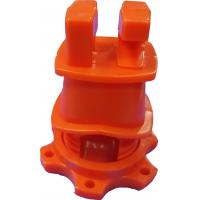 Orange HDPE Screw Tight Round Post Insulator with UV inhibitors for Electric Fencing System