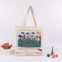 China Handheld Personalised Canvas Tote Bags / Custom Made Promotional Cotton Tote Bags on sale