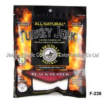 Wholesale 3-Side Sealed Food Packaging Plastic Bags , Plastic Zipper Beef Jerky Bag from china suppliers