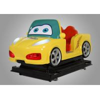 Kids Car Driving Fiber Glass Coin Operated Kiddie Rides With Interaction Screen