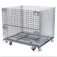 Wholesale Warehouse Stackable Pallet Cages Heavy Duty Ganvalnized Zinc Plated Surface from china suppliers