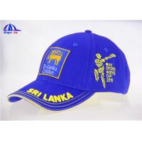 6 Panel Brushed Cotton Embroidery Custom Baseball Caps With Sri Lanka Cricket Logo