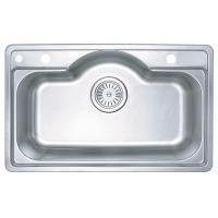 Wholesale Rectangle Large Single Bowl Stainless Steel Kitchen Sinks Deck Mounted from china suppliers