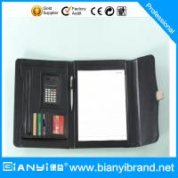 Wholesale A4 PU leather portfolio with calculate and memo pad from factory from china suppliers