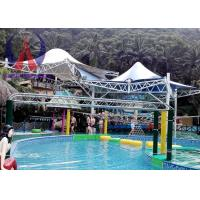 Colorful Fabric Tensioned Membrane Structures For Aqua Park Shade Metal Frame