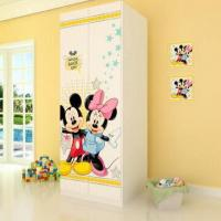 Wholesale E0 Grade Kids'/Children's Furniture/2-door Wardrobe with Printed Cartoon Pictures from china suppliers