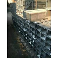 China Rectangular / Square Steel Pipe Hollow Section Galvanzied / Black Annealing Steel Tube on sale