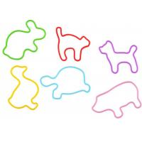 China Colorful Animal Rubber Wrist Bands , Gift For Kids Or Teenage on sale