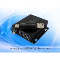 Wholesale 4Port compact USB3.0 over dual or single fiber extender to 250M for USB printer  USB camera and USB Mouse and keyboard from china suppliers