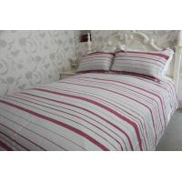 horizontal stripe   red&white polycotton or full cotton duvet cover sets ---color  woven cloth