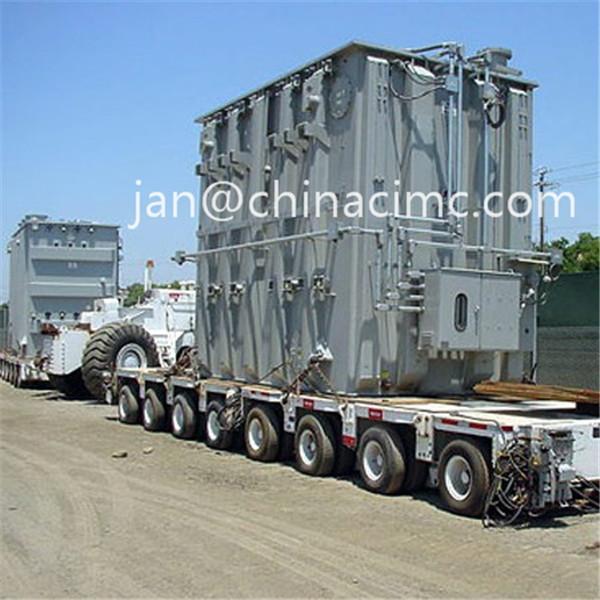 Hydraulic Platform Trailers : Hydraulic platform trailer to carry voltage transformer of