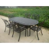 China Outdoor Table and Chair/Metal Garden Chairs Wrought Iron Garden / Backyard Bench on sale