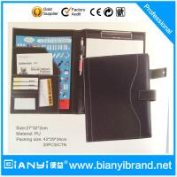 Wholesale High quality A4 paper brown and black leather file folder design from china suppliers
