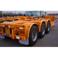 Wholesale 20ft Or 40ft Flatbed Container Semi Trailer CIMC Skeleton Single Tire from china suppliers