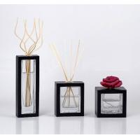 Wholesale 100ml Square Fragrance Rattan Glass Reed Diffuser with Sola Flower TS-GRD06 from china suppliers
