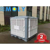 China Moly 2020 Factory price 1.1kw 18000CMH 220V klima cool rooftop air cooler workshop air cooler evaporative air cooler on sale