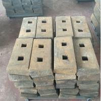 Buy cheap impact crusher spare parts impact plate breaker plate for Shanbao PF series crusher from wholesalers