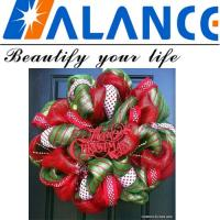 Wholesale Christmas deco mesh ribbon for front door from china suppliers